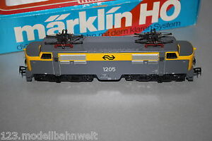 Marklin-3055-elok-serie-1205-ns-gris-amarillo-pista-h0-OVP