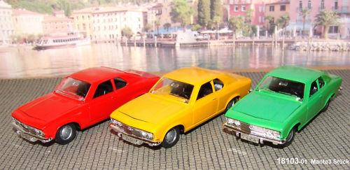 Märklin 18103-01 Opel Manta A 1 43 red yellow green-NEUOVP
