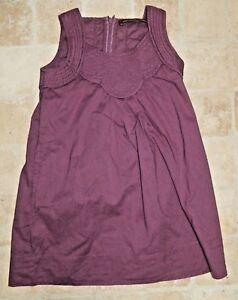 COMPTOIR-DES-COTONNIERS-fille-6-ans-superbe-robe-couleur-pourpre-2DITTO-dress
