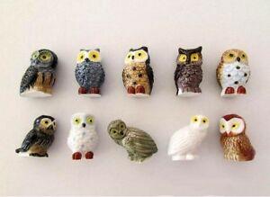 Feve-de-collection-au-choix-de-la-serie-LES-CHOUETTES-Objet-vitrine-porcelain
