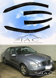 Mercedes Benz W211 E350 E500 03-09 Window Visor Sun Rain Guard Weather Shield