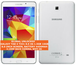 SAMSUNG GALAXY TAB 4 T331 8.0 3 G 16 Go Quad-Core 8.0 in (environ 20.32 cm) wifi 3 G Tablette Android