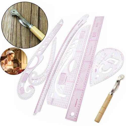 7 Stk Bekleidung Lineal Schneiderlineal Ärmel Knopf Patchwork Zubehör Design Set