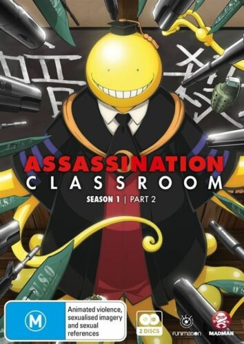 1 of 1 - Assassination Classroom : Part 2 : Eps 12-22 (DVD, 2016, 2-Disc Set) (D81)