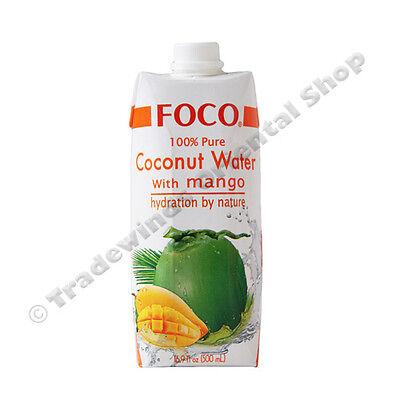 FOCO PURE COCONUT WATER WITH MANGO - 12X500ML