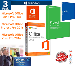 Microsoft-Office-2016-Key-License-3-PACK-Office-Project-Visio-Pro-Genuine