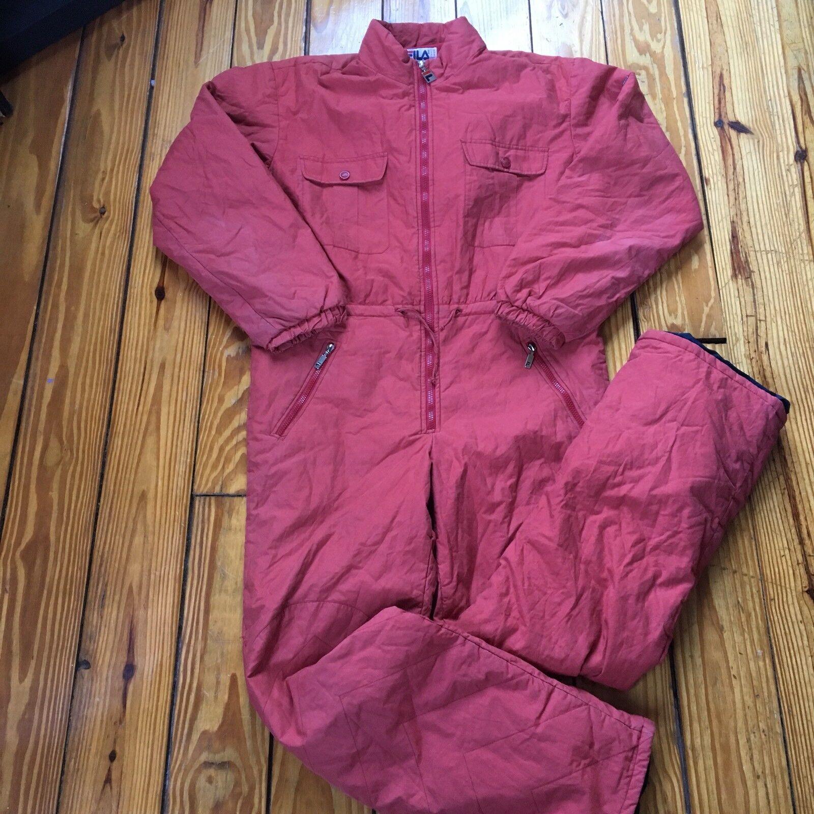 Vintage Men's Fila Ski Snowboard Suit - Red - Size  40 -