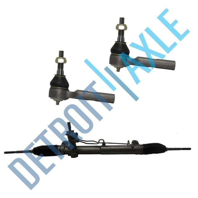 Complete Power Steering Rack and Pinion + 2 NEW Outer Tie Rod for Chrysler 2WD