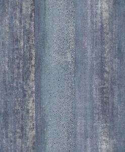 Tapete-Designtapete-VLIES-Praegetapete-verwittert-Holz-Blau-Coal-Schlamm
