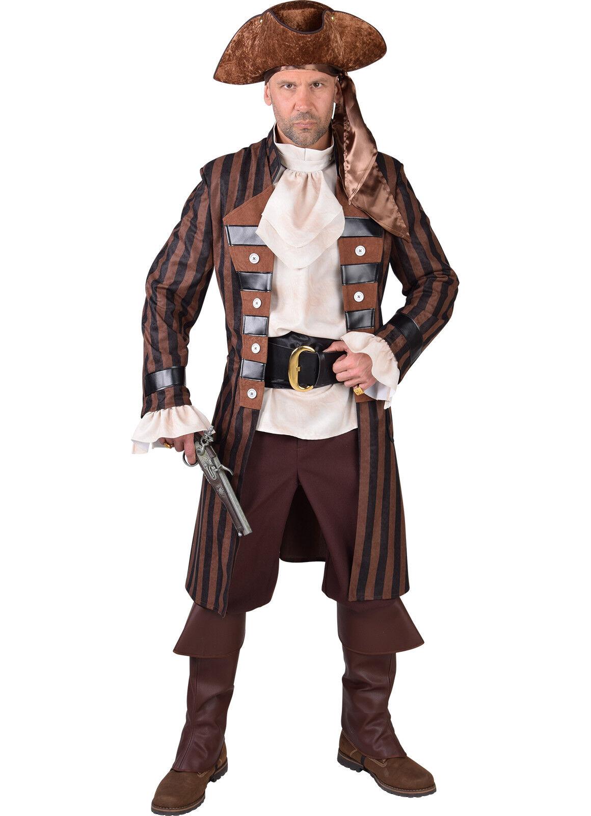 Steampunk Pirate - Brown Stripe , Deluxe , XS - XXL