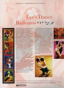 747-37c-Let-039-s-Dance-Bailemos-Stamps-3939-3942-USPS-Commemorative-Stamp-Panel