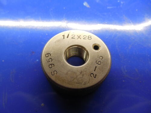 BUDGET 1//2 28 SOLID THREAD RING GAGE .5  1//2-28 QUALITY INSPECTION CHECK .500
