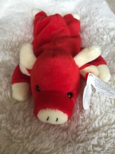 10ddf54a03e Image is loading Extremely-Rare-Ty-Beanie-Baby-SNORT-The-Bull-