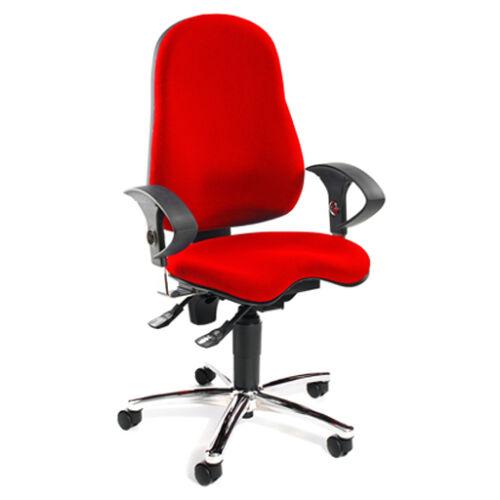 Drehstuhl Schreibtischstuhl Bürosessel Bürostuhl Topstar Sitness 10 rot B-Ware