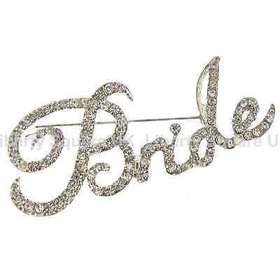 SPARKLING SILVER BOWKNOT GEM BROOCH DIAMANTE CRYSTAL WEDDING BRIDAL PARTY BROACH