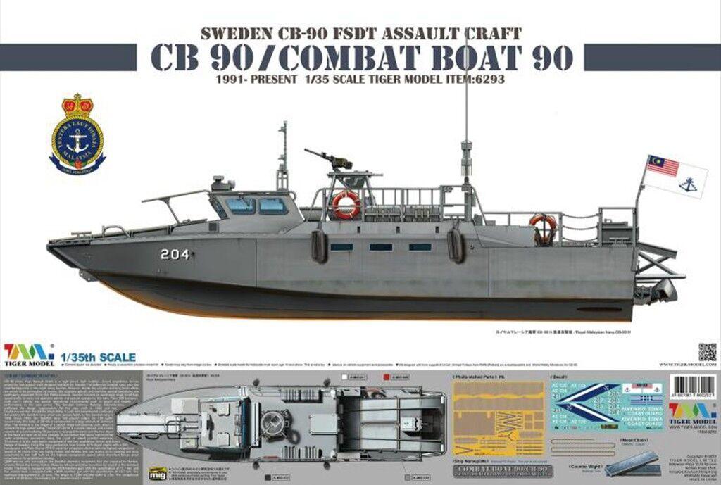 TIGER 1 35 6293 CB 90 COMBAT  Boat 90 SWEDEN CB-90 FSDT ASSAULT CRAFT model kit