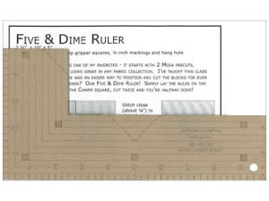 Kansas Troubles Quilters Five and Dime Ruler