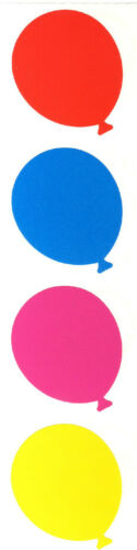 Grossman/'s Stickers Balloons Pink Large Red Purple Mrs 4 Strips Blue