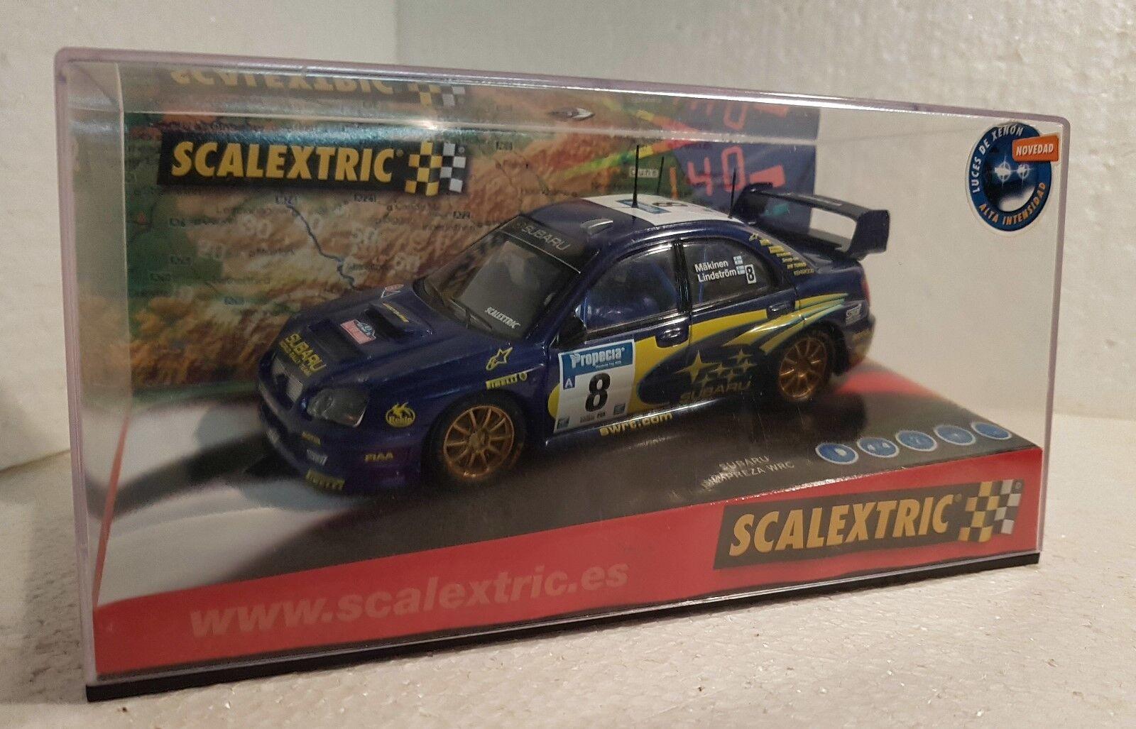 qq qq qq 6123 SCALEXTRIC SUBARU IMPREZA WRC SWRT RALLY NEUF ZELAND 8 MÄKINEN 82e88f