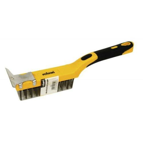 Rolson Heavy Duty Carbon Steel Wire Brush with Scrapper Tools DIY Hardware New