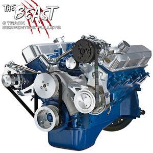 Black Alternator Bracket for Ford FE 390 427 428 Engines