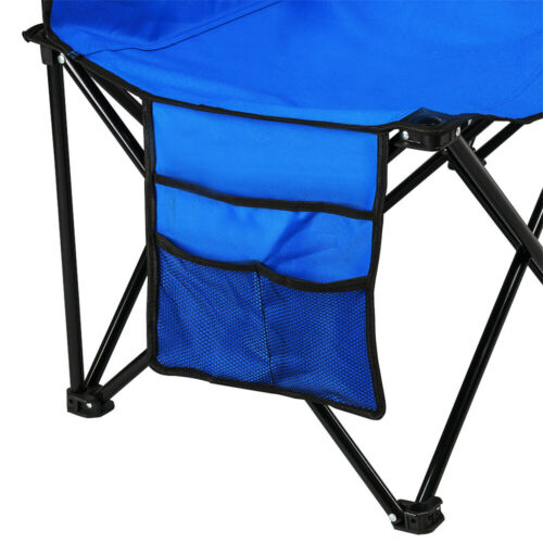Portable 6 Seater Folding Bench Sport Sideline Chair Seat with Carry Bag Blue