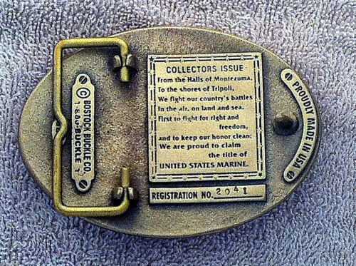 Solid Brass Limited Edition USMC Belt Buckle