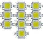 10pcs 10W Cool White High Power 900~1000LM LED Light Lamp SMD Chip DC 9-12V