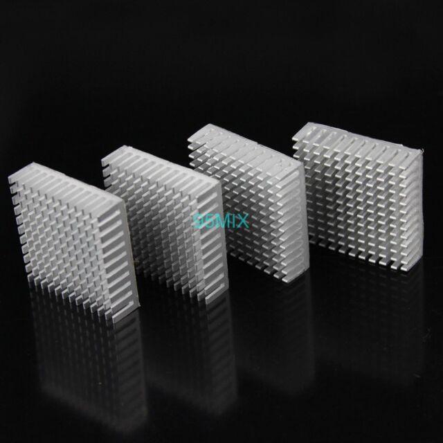 5pcs 35x35x10mm 35mm Silver Aluminum Heat Sink With Thermal Adhesive Heatsinks