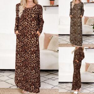 Women-Long-Sleeve-Animal-Print-Kaftan-Dress-Casual-Holiday-Party-Long-Maxi-Dress