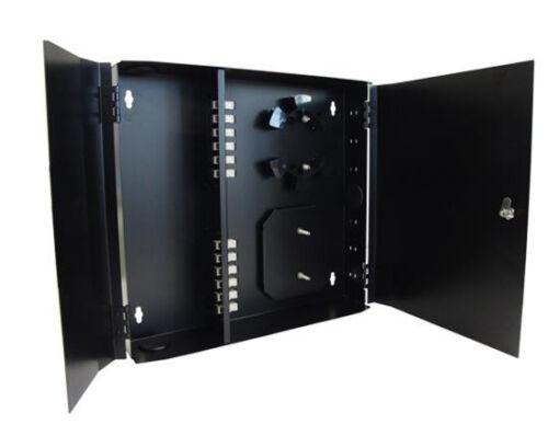 Fiber Patch Panel Wall Mount Enclosure Multimode 12 SC Simplex Ports 2839