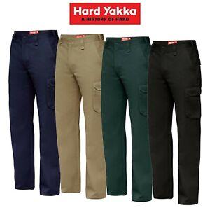 Mens-Hard-Yakka-Cargo-Pants-Gen-Y-Cotton-Drill-Work-Tradie-Heavy-Duty-Y02500