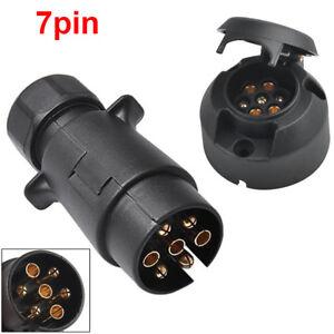 image is loading 7-pin-plug-amp-socket-trailer-car-caravan-