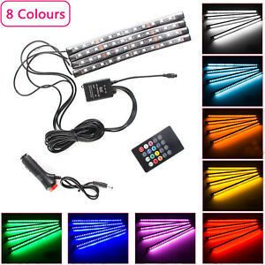 4Pcs-RGB-LED-Car-Interior-Strip-Lights-Atmosphere-Lamp-Music-Remote-Control