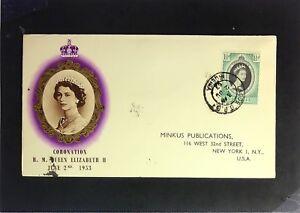 Nigeria-1953-Queen-Elizabeth-II-Coronation-FDC-Minkus-Cache-Z2356