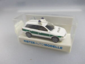 Rietze: Police-voiture Audi A4 Avant Nº 50792 (gk6)-afficher Le Titre D'origine La Qualité D'Abord