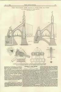 1895-Proposed-Danube-Bridge-Plan-Of-Piers-Cables-Anchor-Kubler