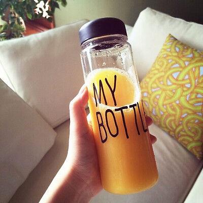 Portable Fruit Juice Bottle Clear My Bottle Cup Travel Bottle Gifts 500ML