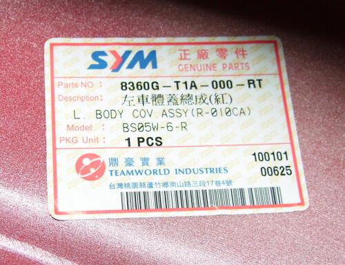 8360G-T1A-000-RT ET SYM Shark 50 E1 Seitenverkleidung links Neu orig