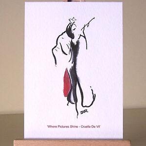 Cruella-De-Vil-WDCC-Art-Deco-drawing-villains-ACEO-Card