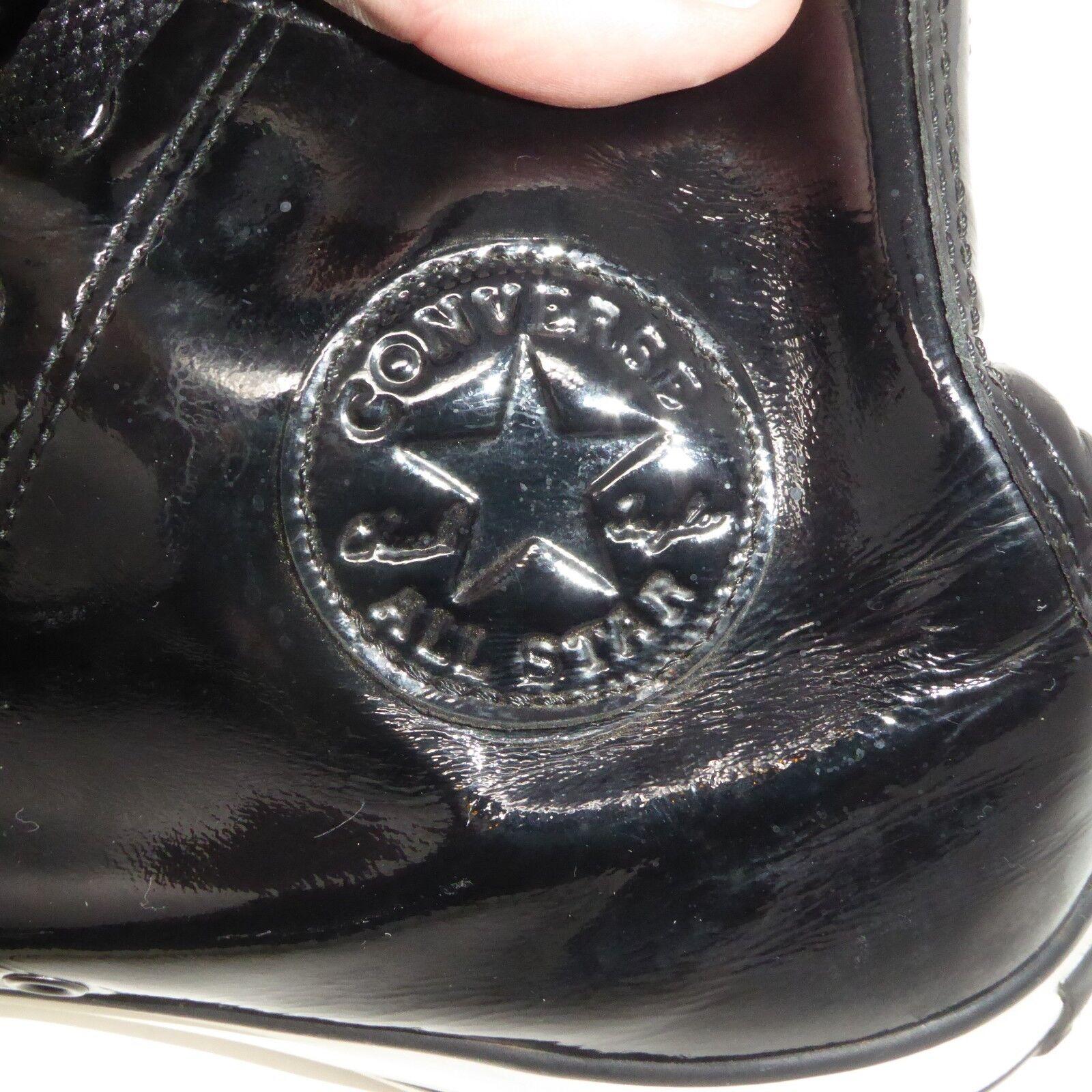 PVC CONVERSE CHUCK TAYLOR ALL STAR HIGH SHOES TOP BLACK SHOES HIGH SNEAKERS Sz 10 Dominatri 23e788
