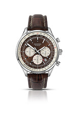 Sekonda Men's Quartz Watch with Chronograph Display and Leather Strap