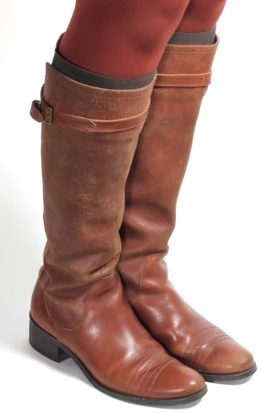 Damenstiefel Vintage Stiefel Blogger Schuhe Westernstiefel Reiter Max&Co. 38