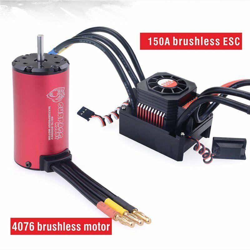 Surpass KK Series waterproof brushless 4076 2000kv MOTORE +150a ESC for 1 8 RC Car