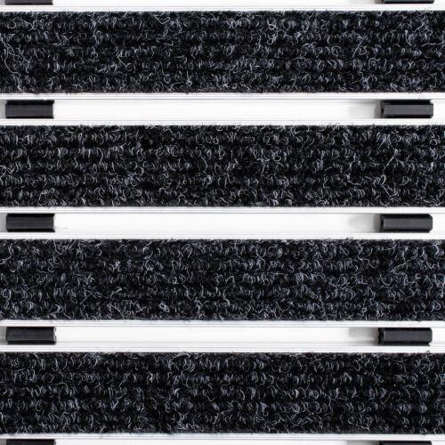 Alu Fußmatte Elegant Mat 2 Größen anthrazit türmatten schmutzfangmatte fussmatte
