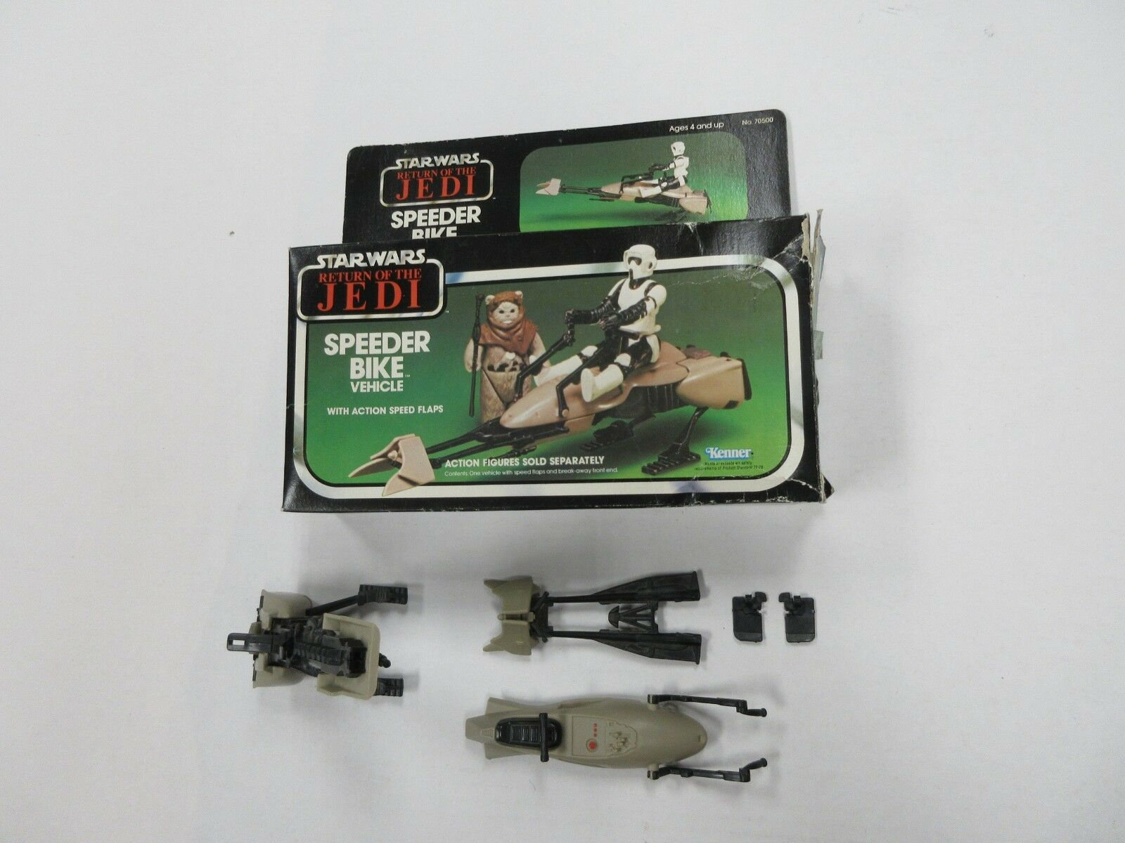 VINTAGE KENNER STAR WARS ROTJ SPEEDER BIKE VEHICLE COMPLETE W/ BOX