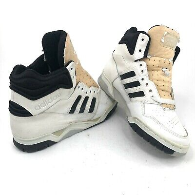 Vintage 80s Adidas Phantom Mens 9 High Top White Basketball Shoes Dead Stock | eBay