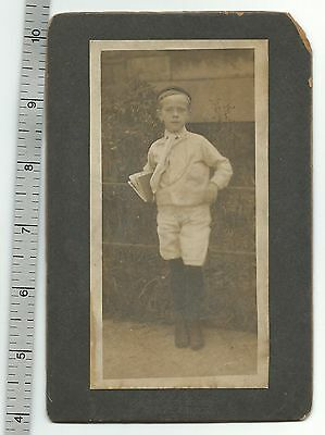 1890's 1900's CDV Victorian Schoolboy Knickers Suit Photo Signed Duncan Chicago