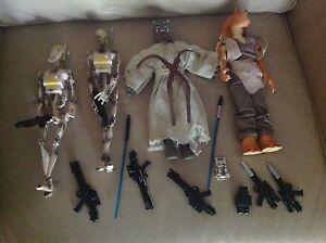 Lot De 4 Poupées Hasbro Star Wars 12 Pouces Figurines Ensemble De Jouets Plus De Pistolets