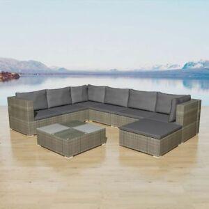 Gartenmöbel set lounge grau  vidaXL Gartensofa 24-tlg. Poly Rattan Grau Sitzgruppe Lounge ...